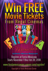 FIESTA Garner-Free Movie Ticket